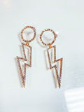 Dangle lightning bolt earrings