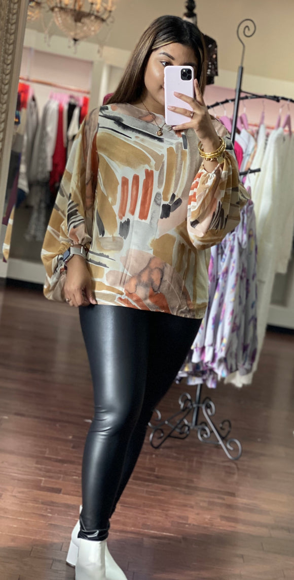 Multi balloon sleeve blouse