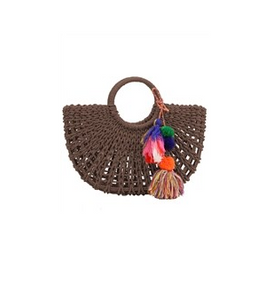 Straw trendy bag