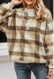 Round neck teddy pullover