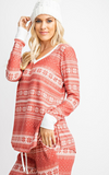 Cashmere feel pj christmas 2 piece set