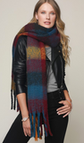 Super soft brushed plaid oblong scarf
