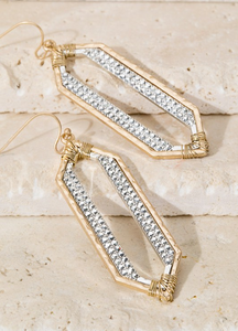 Geometric Pave Rhinestone Dangle earrings