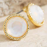 Circle shape crystal earrings