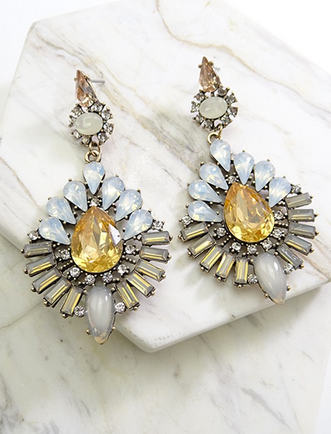 Luxurious Stone Statement Earrings