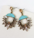 Medium Rhinestone Statement Earrings