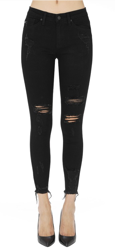 Mid rise ankle skinny distressed Kancan