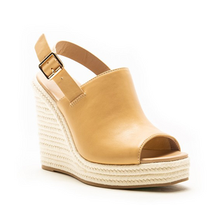 Mule slingback wedge