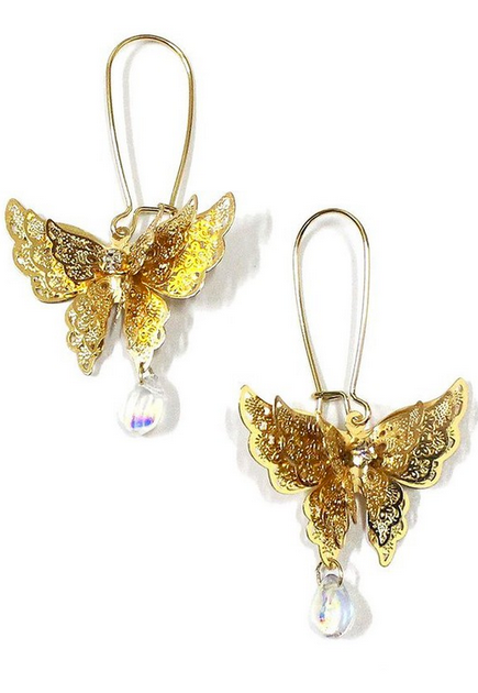 Dangle butterfly earrings