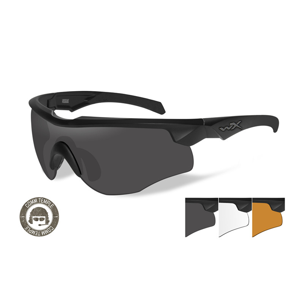 ROGUE COMM Grey/Clear/Rust Matte Black Frame - Bellmt
