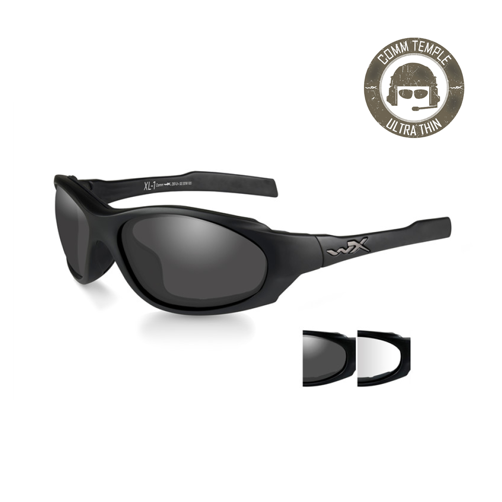 XL-1 AD COMM Smoke/Clear Matte Black Frame - Bellmt