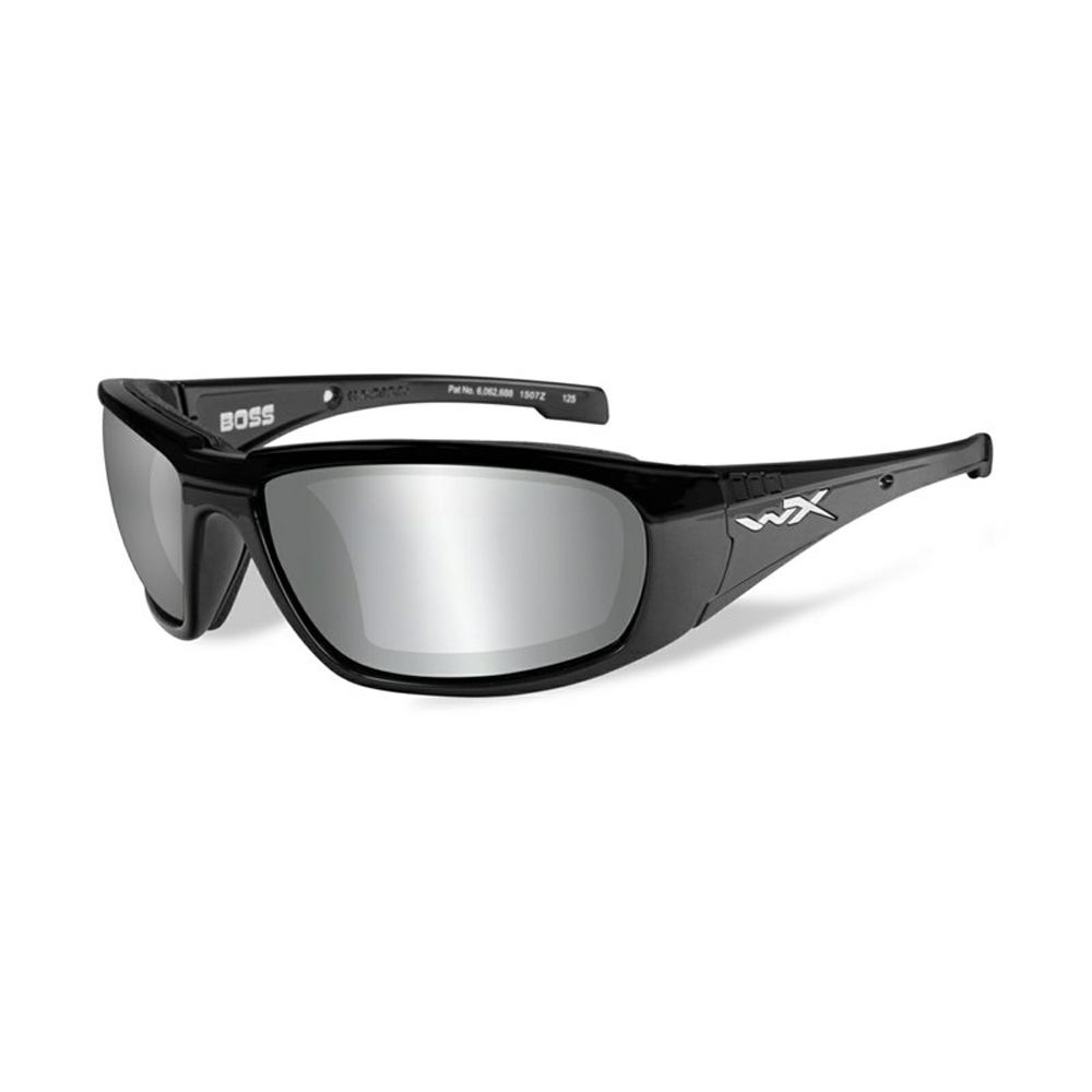 BOSS Grey Silver Flash Gloss Black Frame - Bellmt