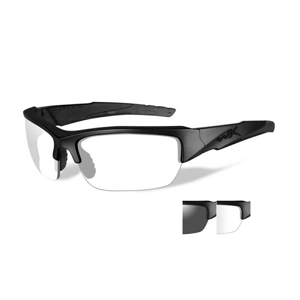 VALOR Smoke Grey/Clear Matte Black Frame - Bellmt