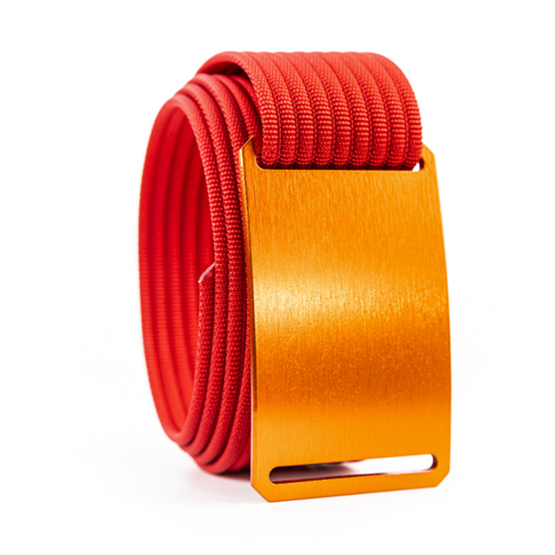 Foxtail Standard Belt Buckle with 1.50 Webbing Strap Red