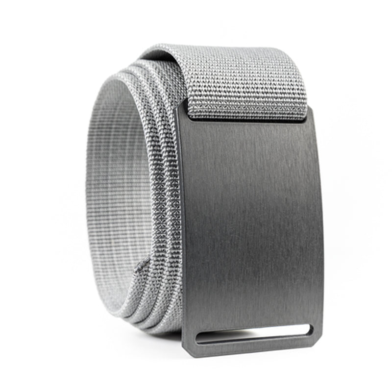 Gunmetal Standard Belt Buckle with 1.50 Midweight Strap Titanium