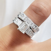 3.20 Ct. Emerald Cut Diamond Engagement Ring G Color VVS1 GIA Certified