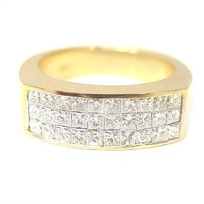1.80 Ct. Mens Diamond Wedding Ring Invisible Set