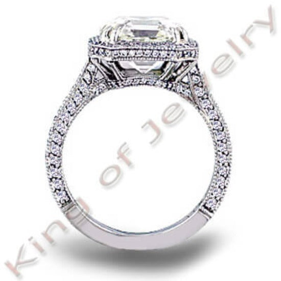 2.67 Ct. Princess Cut Diamond Engagement Ring(GIA Certified)