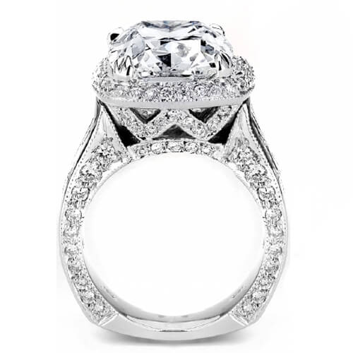 5.70 Ct. Cushion Cut Diamond Engagement Ring D, SI2 (EGL Certified)