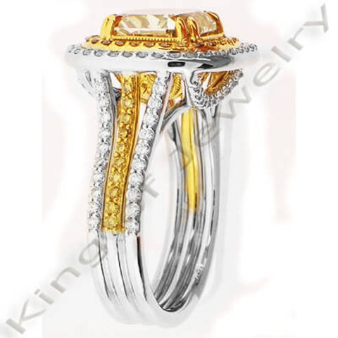 Canary Fancy Yellow Diamond Engagement Ring