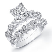 3.70 Ct. Princess Cut Diamond Engagement Set (GIA Certified)