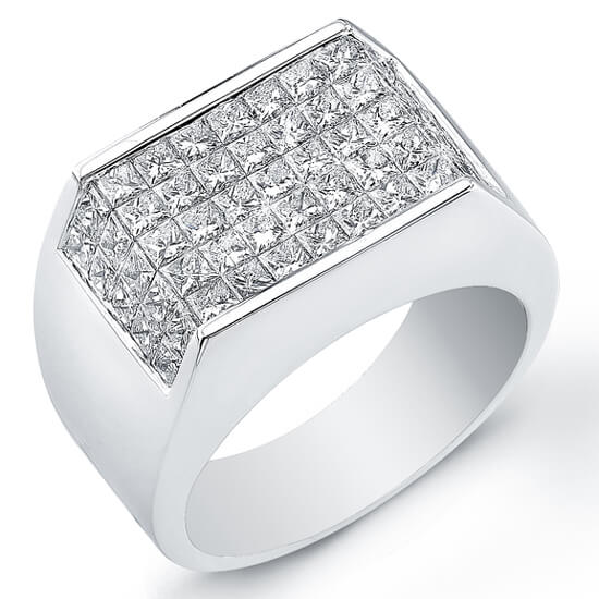 3.75 Ct. Mens Diamond Ring Wedding Ring
