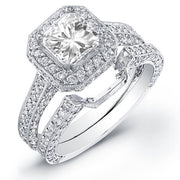 4.72 Radiant Cut Diamond Engagement Set
