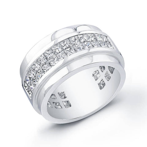 1.72 Ct. Mens Princess Cut Diamond Wedding Ring