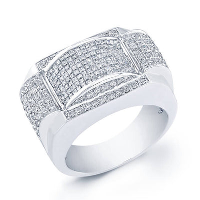 2.50 Ct. Mens Princess W/ Round Cut Diamond Invisible Wedding Ring