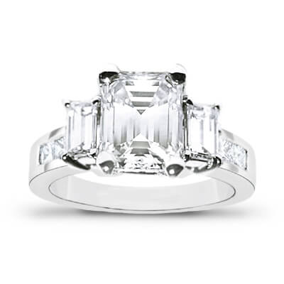 2.13 Ct. Emerald Cut Diamond Engagement Ring H, VS2 (GIA Certified)