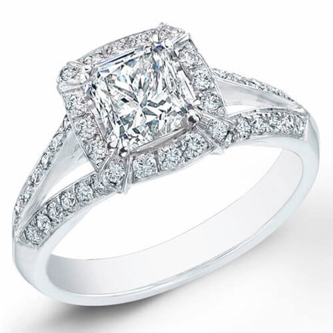 1.35 Ct. Princess Cut Diamond Engagement Ring F, VVS2 (GIA Certified)