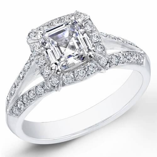1.61 Ct. Asscher Cut Diamond Engagement Ring G, VVS1 (GIA Certified)