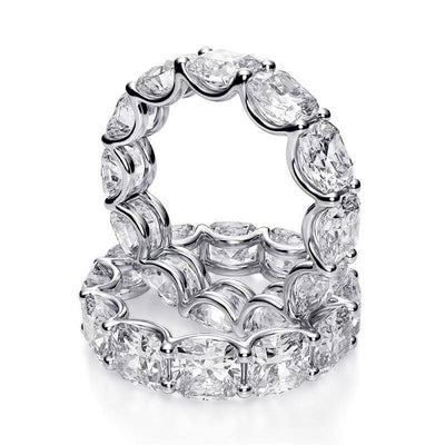 6.0 Ct. Cushion Brilliant Diamond Eternity Ring