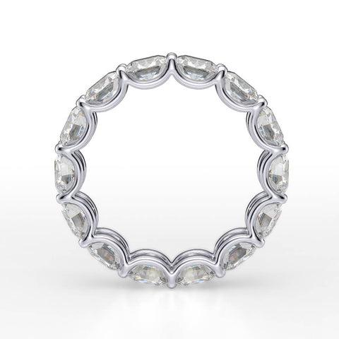 5.0 Ct. Cushion Cut Diamond Eternity Ring