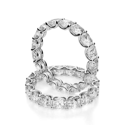 3.0 Ct. Cushion Cut Diamond Eternity Ring
