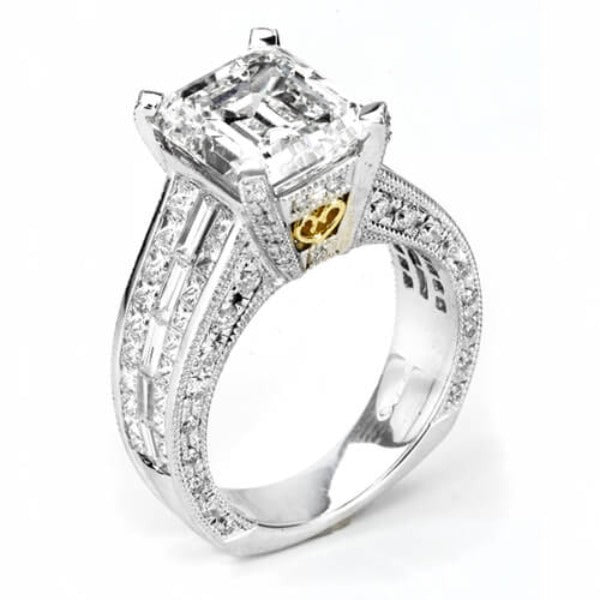 6.83 Ct. Emerald Cut Diamond Engagement Ring I, VVS2