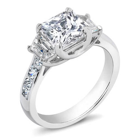 2.40 Ct. Princess Cut Diamond Engagement Ring H, SI1 (GIA Certified)