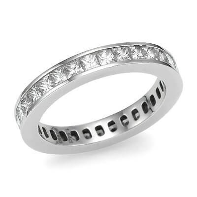 Princess Cut Channel Set Diamond Eternity Ring