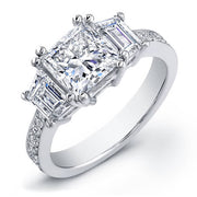 2.06 Ct. Princess Cut Diamond Engagement Ring H, SI1 (GIA certified)
