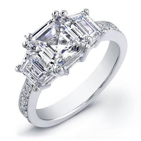 2.09 Ct. Asscher Cut Diamond Engagement Ring H, VVS2 (GIA certified)