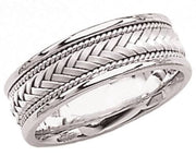 Two Tone Hand Made Wedding Ring for Men & Women