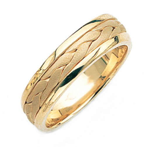 Beautiful Hand Made Wedding Ring for Men & Women