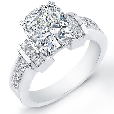 1.92 Ct. Cushion Cut Diamond Engagement Ring E, VS2 (GIA Certified)