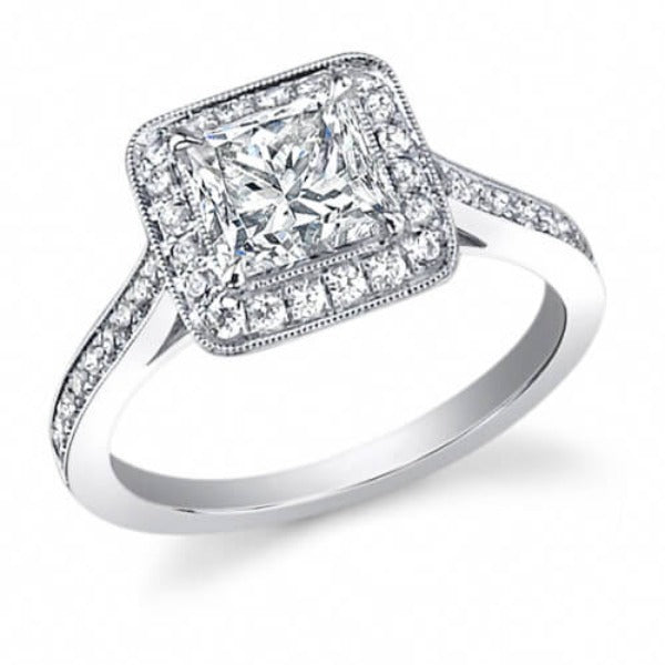 1.61 Ct. Princess Cut Diamond Engagement Ring F, VS1 (GIA Certified)