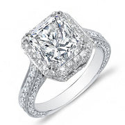 4.00 Ct. Princess Cut Diamond Engagement Ring I, VS2 (GIA Certified)