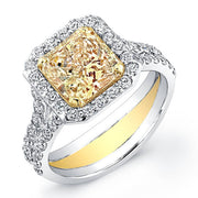 3.01 Ct. Canary Fancy Yellow Diamond Engagement Ring (GIA Certified)