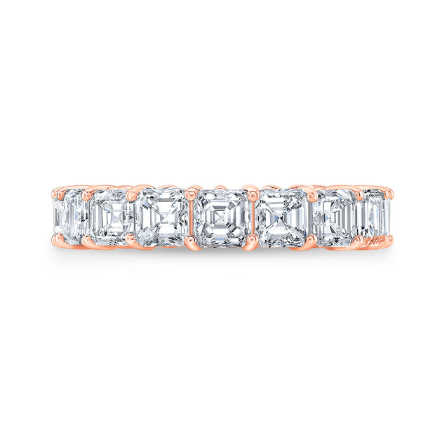 5.00 Ct. Asscher Cut Diamond Eternity Band Wedding Ring F-G Color VS1 Clarity