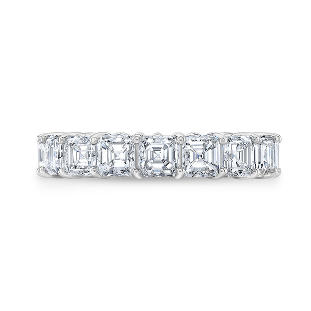 7.00 Ct. Asscher Cut Diamond Eternity Ring F-G Color VS1 Clarity