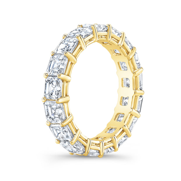 6.00 Ct. Asscher Cut Diamond Eternity Ring F-G Color VS1 Clarity
