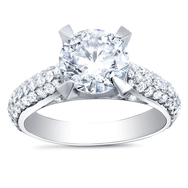 5.00 Ct. Round Brilliant Cut Lush Diamond  Engagement Ring H Color VS2 GIA Certified